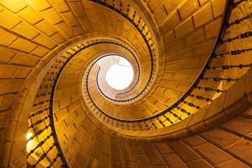 Staircase of S. Domingo Bonaval convent. Santiago de Compostela
