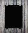 black placard