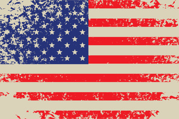 vector grunge flag of usa