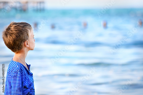 Boy at the sea