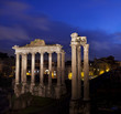 Roman forum by night