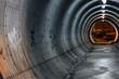 Leinwanddruck Bild - lit tunnel