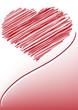 sfondo cuore stilizzato