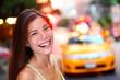 Happy New York City girl