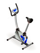 Exercise bike - fitness salon equipment. Eps10