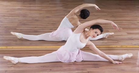 Young ballerina woman training