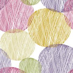 Seamless abstract circle pattern