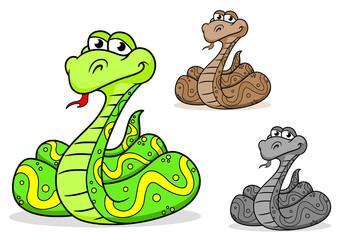 Cartoon python snake