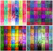 artistic colorful wooden panels