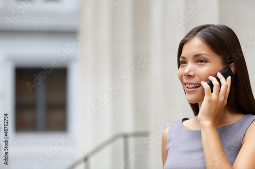 Woman businesswoman lawyer talking on smart-phone