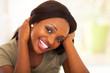 cute african american teen girl closeup