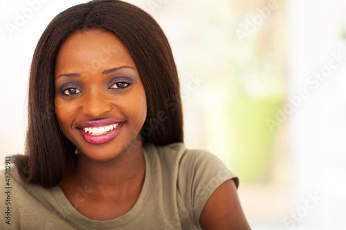 pretty african american college student headshot