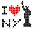 I love New York symbol