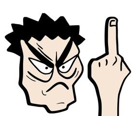 Rebel finger