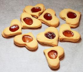 Biscotti per San Valentino appena sfornati