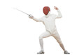Fencer with rapier foil