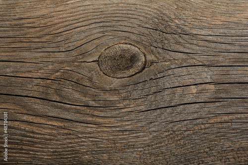 Old wooden texture made by nature. Dried wooden board.