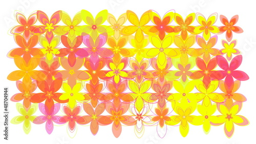 Flower Power Loop  - White Background
