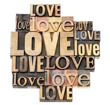 kocham słowo w rodzaju drewna