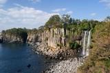 Fototapety Jeongbang waterfall, Jeju Island, Korea