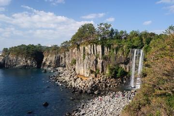 Jeongbang waterfall, Jeju Island, Korea
