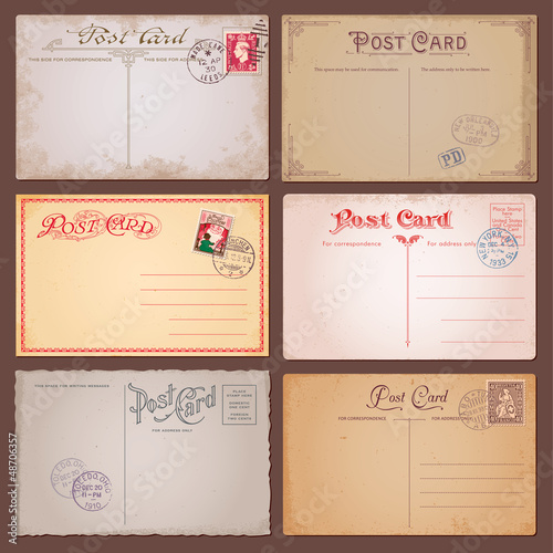 Vector Vintage Postcards