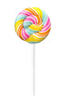 Spiral lollypop, Realistic photo image. Colorful lollipop stick.