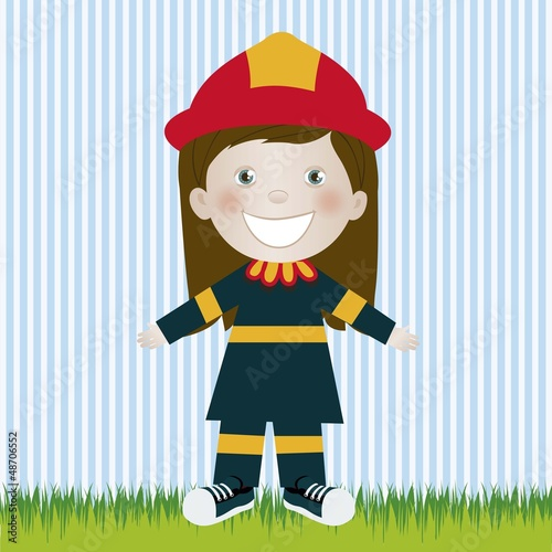 firefighter woman