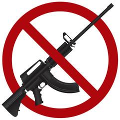 Assault Rifle AR 15 Gun Ban Illustration
