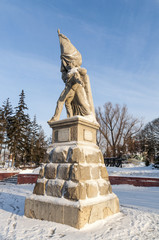 Monument to the heroes of the revolution in Omsk