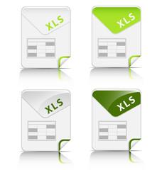 """""""XLS"""" file type icon"""