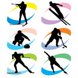 set winter sport icons