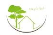 Home , tree, green icon, business logo design
