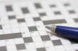 Crossword puzzle with pen