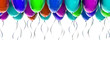 colourful Party balloons with streamers