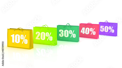 shopping bags with Sale percent