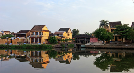 Landscape with ancient house in Hoi An, Vietnam