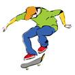 aggressive skateboarder