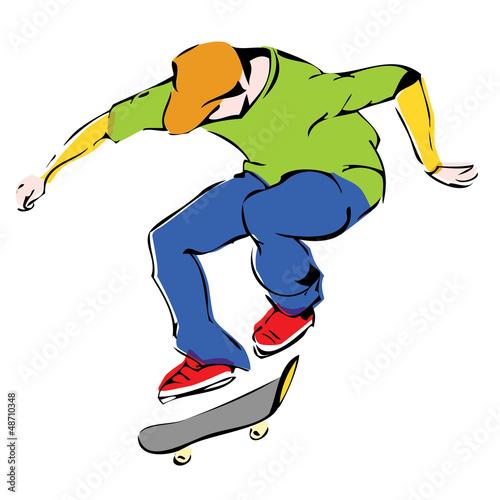 Скейтер в прыжке, вектор