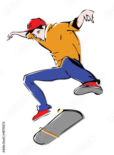 Динамичные скейтеры, скейтбординг, лого, вектор, грандж,