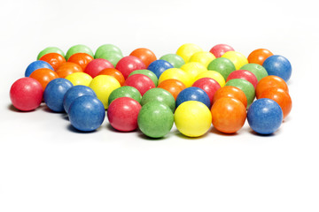 Colorful candy gum balls