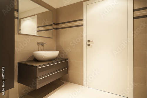 modern architecture, new apartment, bathroom