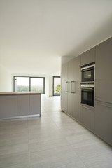 modern architecture, new empty apartment, kitchen