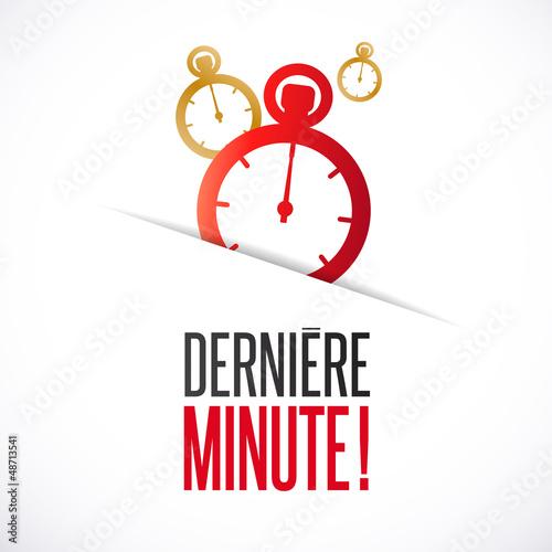 Dernière minute !