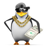 Penguin rapper with some dollars to spend