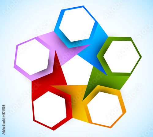 Abstract diagram with hexagons