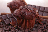 Fototapety chocolate muffin