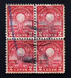 Edisons lamp golden jubilee stamp block