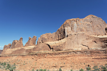 red rocks in Arches