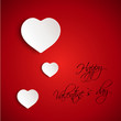 red valentine 3D card